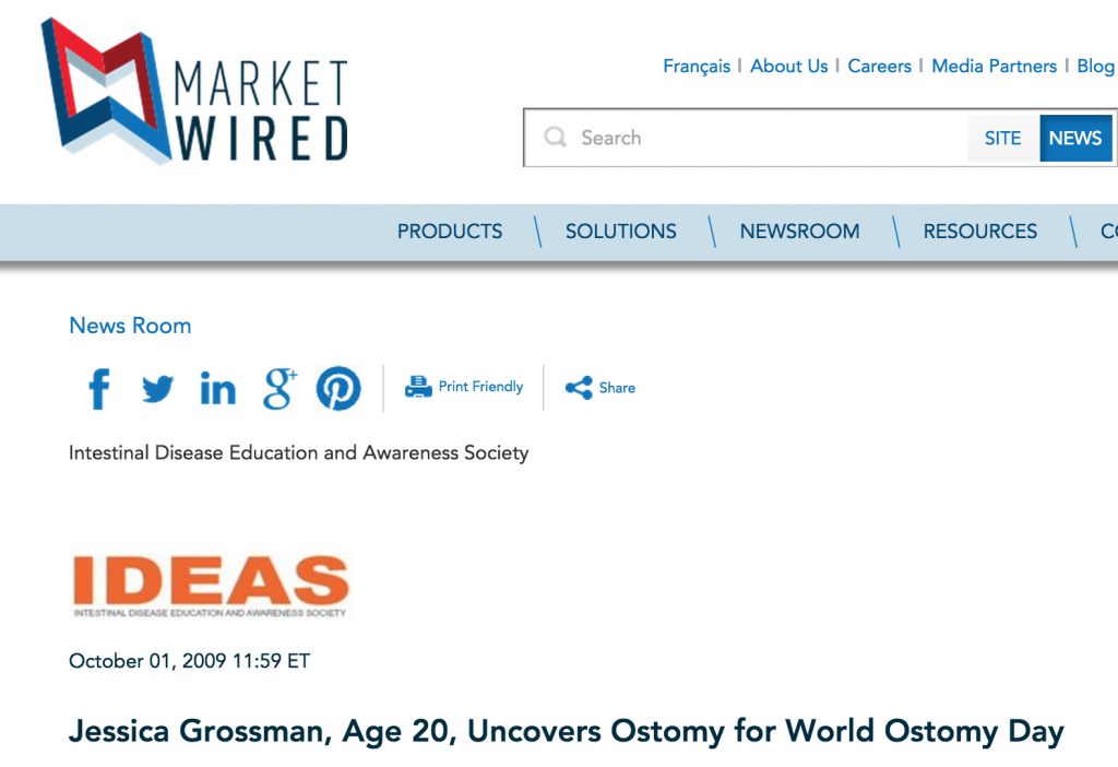 Uncover Ostomy MarketWired 10-01-2009